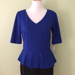 3cc3d2e4dbe Tahari Dresses - NWT Tahari Blue   Black Peplum Sheath Dress